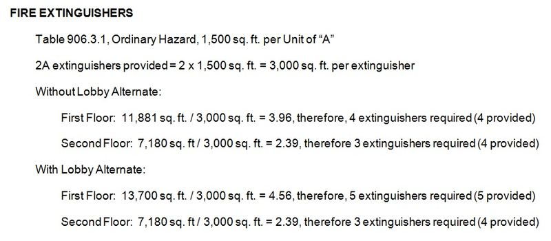 Figure 6 - Fire Extinguisher Calculation