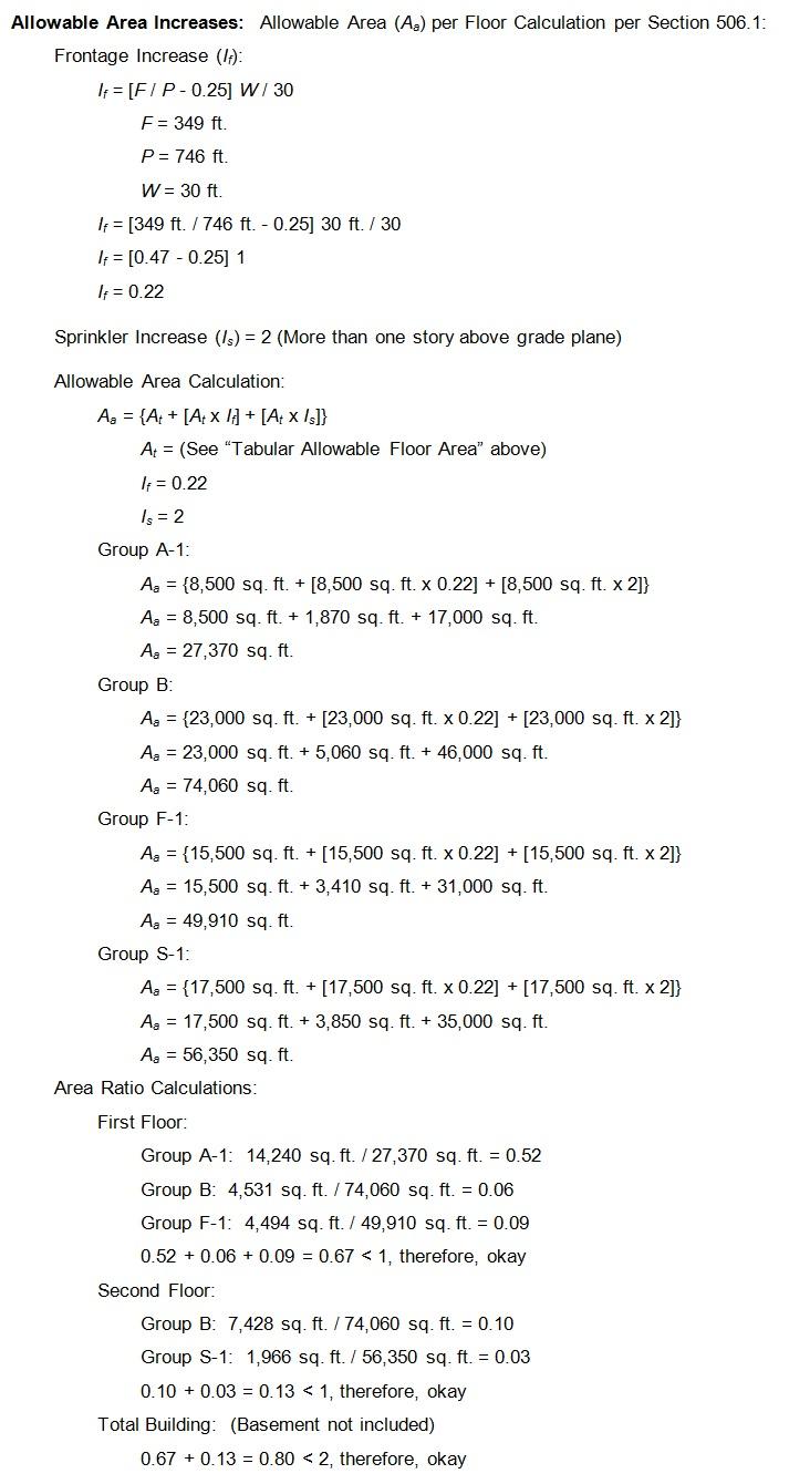 Figure 3 - Area Increase Separated