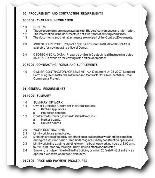 sheet specifications keynotes